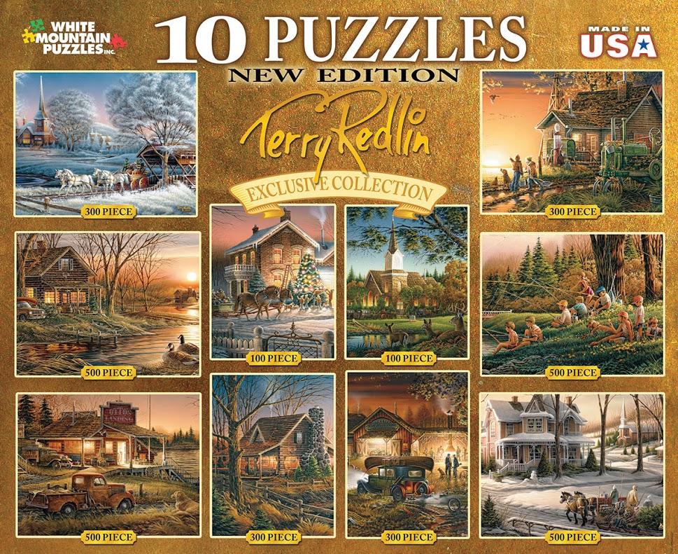 Terry Redlin 10-in-1 Nostalgic / Retro Jigsaw Puzzle