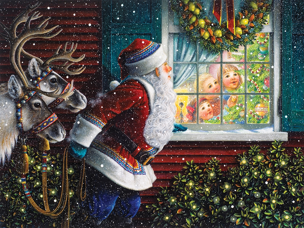 Gifts From Santa Santa Jigsaw Puzzle