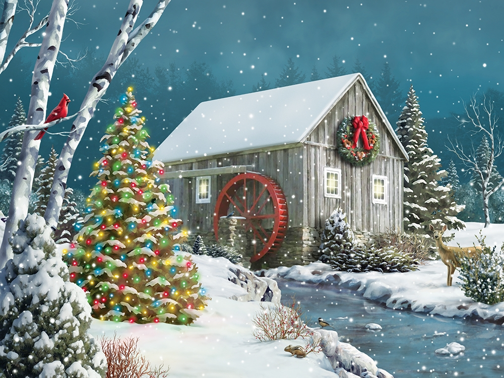 The Falling Snow Christmas Jigsaw Puzzle