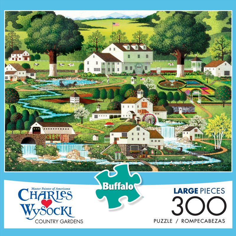 Country Gardens Farm Jigsaw Puzzle