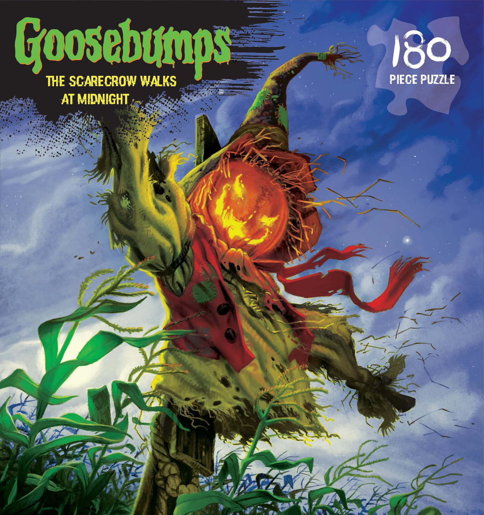 The Scarecrow Walks at Midnight (Goosebumps Puzzle ) Halloween Jigsaw Puzzle