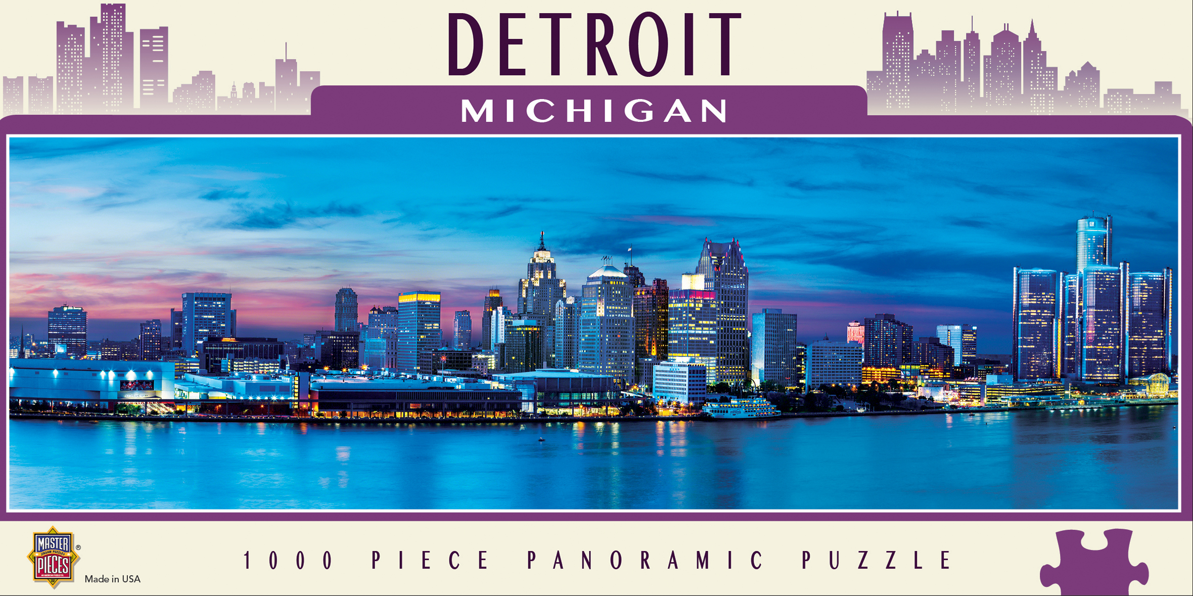 Detroit - Scratch and Dent Skyline / Cityscape Jigsaw Puzzle