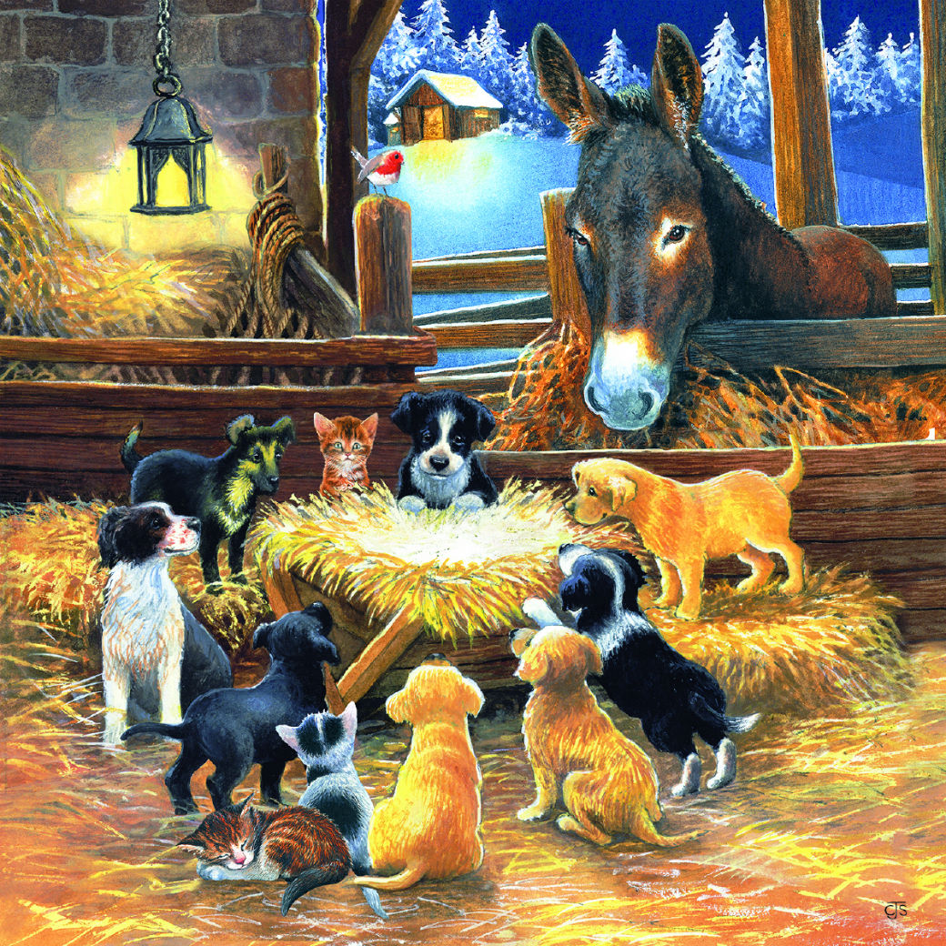 Barnyard Nativity - Scratch and Dent Animals Jigsaw Puzzle