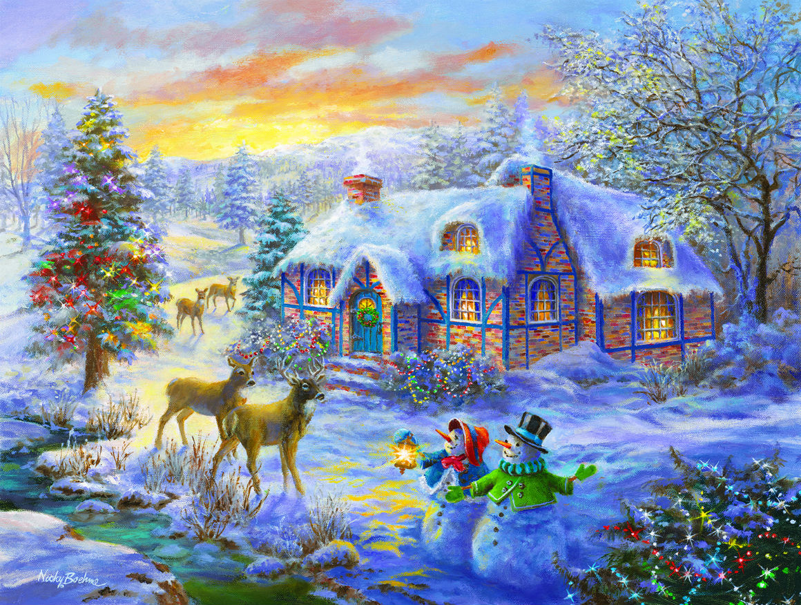 Christmas Home Jigsaw Puzzle Puzzlewarehouse Com