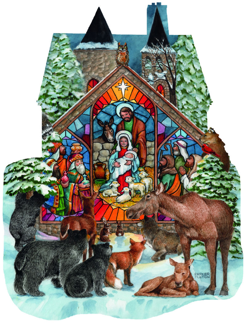 Forest Nativity - Scratch and Dent Animals Shaped Puzzle