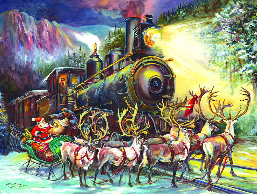 Santa Asking Directions Christmas Jigsaw Puzzle