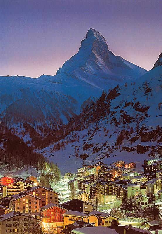 Night in Zermatt Travel Glow in the Dark Puzzle