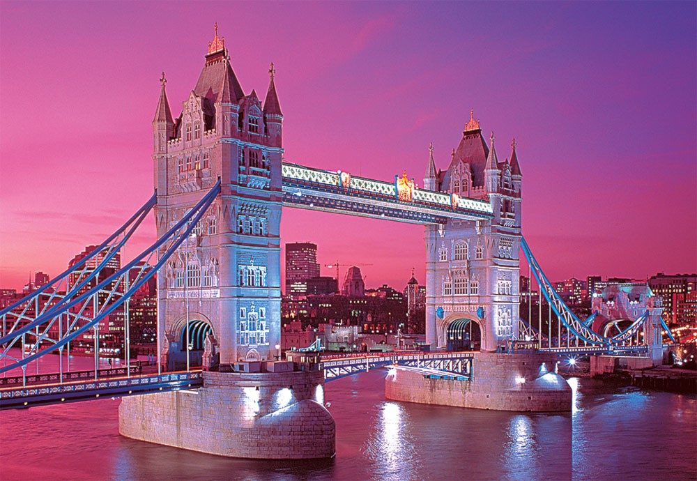 Tower Bridge London Glow In The Dark Puzzle