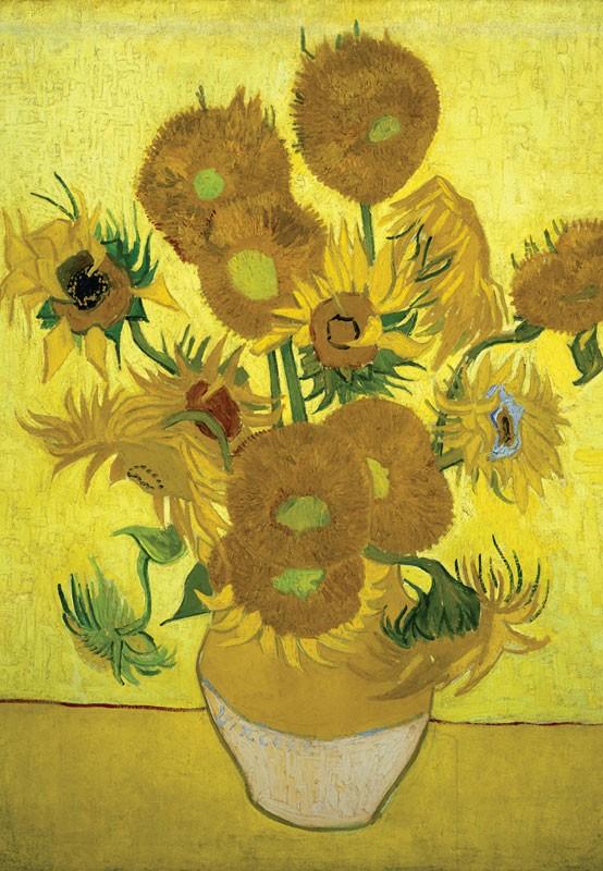 Vase of Sunflowers Fine Art Jigsaw Puzzle