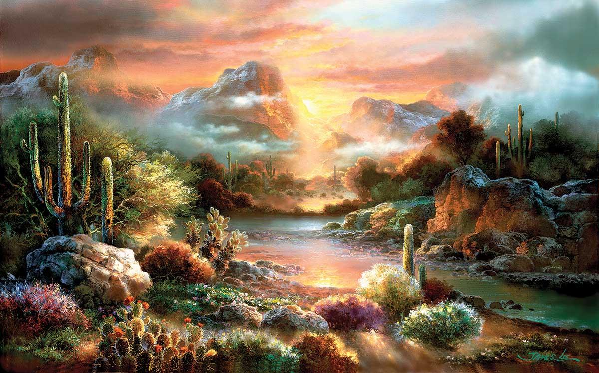 Sunset Splendor Landscape Jigsaw Puzzle