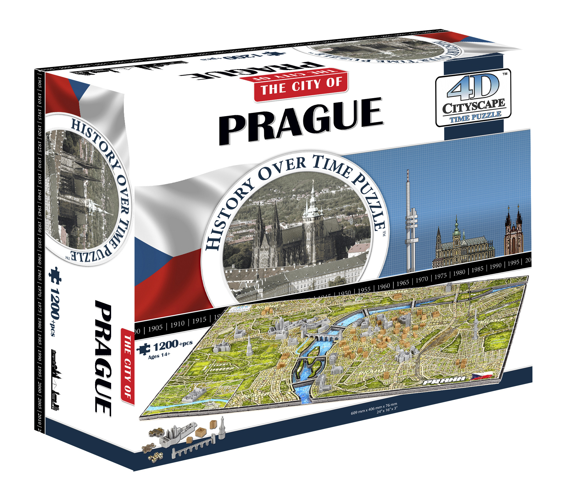 Prague, Czech Rep - Scratch and Dent Maps / Geography Jigsaw Puzzle