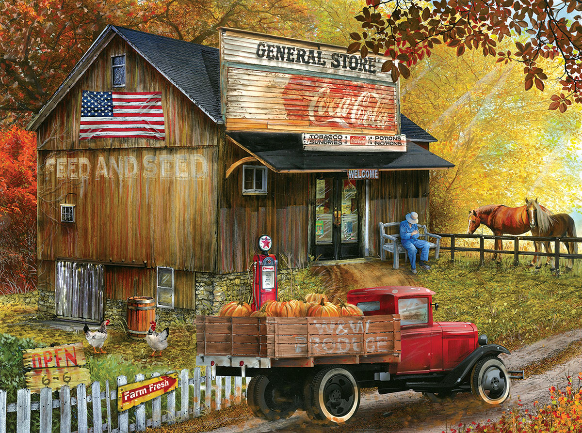 Seed and Feed General Store Countryside Jigsaw Puzzle