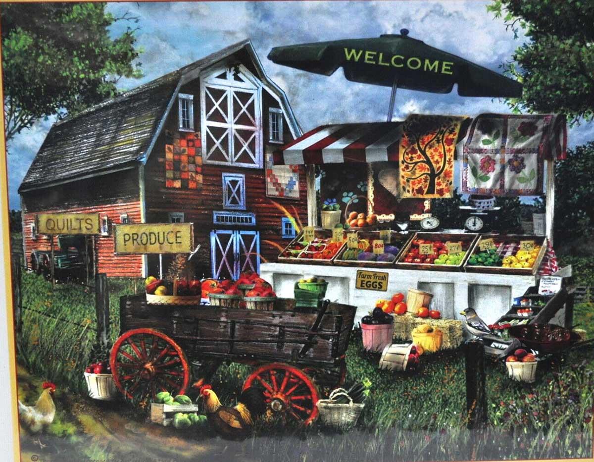 Fresh Produce Stand Farm Jigsaw Puzzle