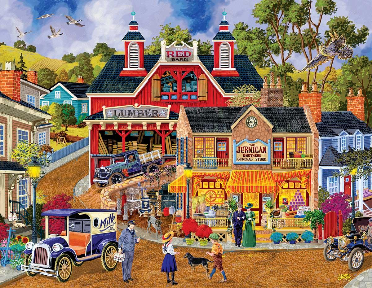 Jerrigan Bros. General Store Street Scene Jigsaw Puzzle