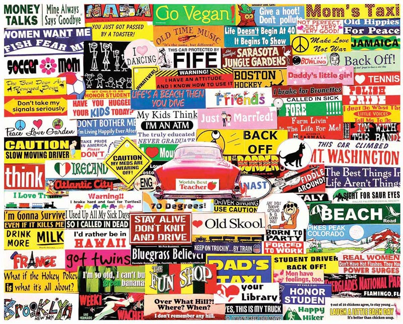 Bumper Stickers Graphics / Illustration Jigsaw Puzzle