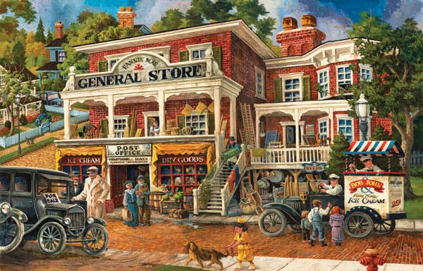 Fannie Mae's General Store Street Scene Jigsaw Puzzle