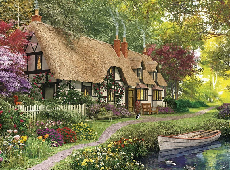 Cozy cottage jigsaw puzzle for Cottage anglais