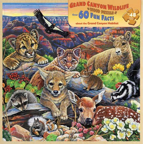 Wood Fun Facts - Grand Canyon Wildlife Wildlife Jigsaw Puzzle