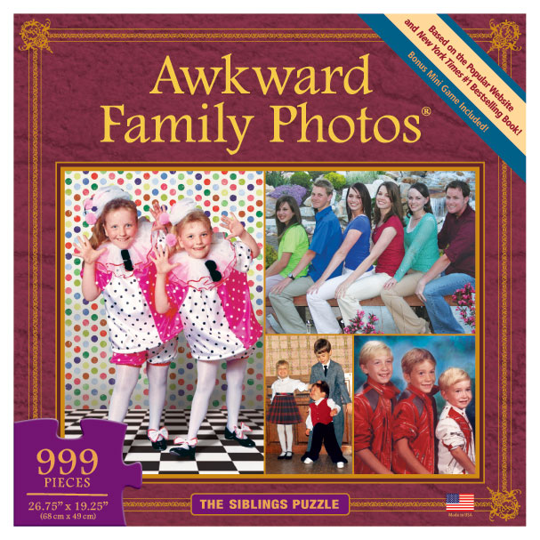The Siblings Puzzle (Awkward Family Photos) Collage Jigsaw Puzzle