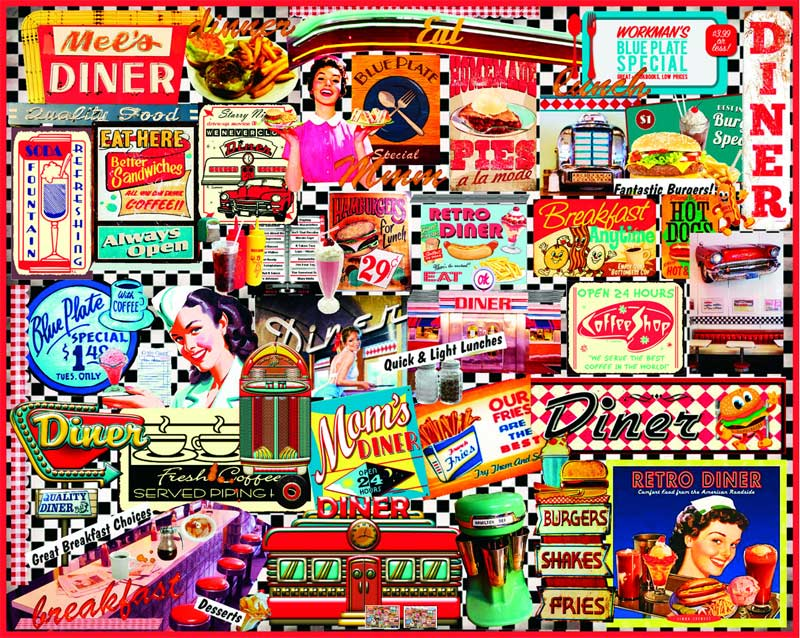 Diners Collage - Scratch and Dent Food and Drink Jigsaw Puzzle