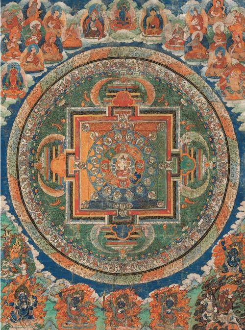 Tibetan Buddhist Mandala Cultural Art Jigsaw Puzzle