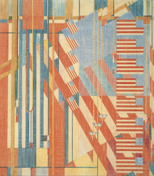 Frank Lloyd Wright: Flags Abstract Jigsaw Puzzle