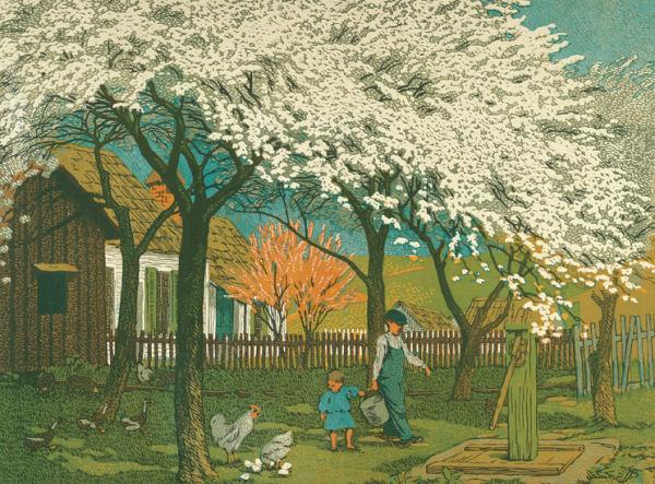 Gustave Baumann: Plum & Peach Blossums Germany Jigsaw Puzzle