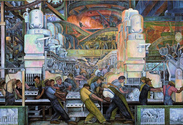 Detroit industry jigsaw puzzle for Detroit rivera mural