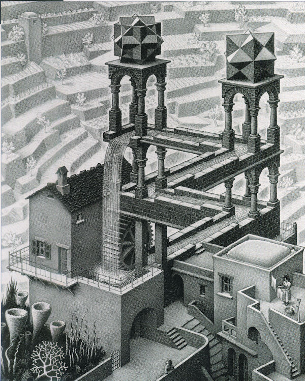 Escher: Waterfall Jigsaw Puzzle