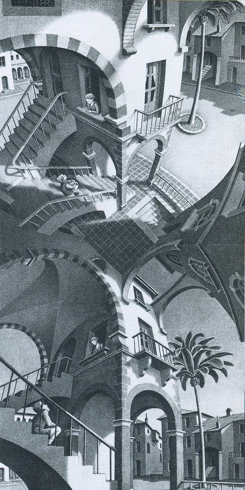 Escher: Up and Down Jigsaw Puzzle