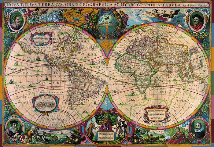 Antique world map 1630 jigsaw puzzle puzzlewarehouse antique world map 1630 maps geography jigsaw puzzle gumiabroncs Images