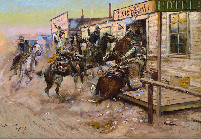 Charles Russell: In Without Knocking Horses Jigsaw Puzzle
