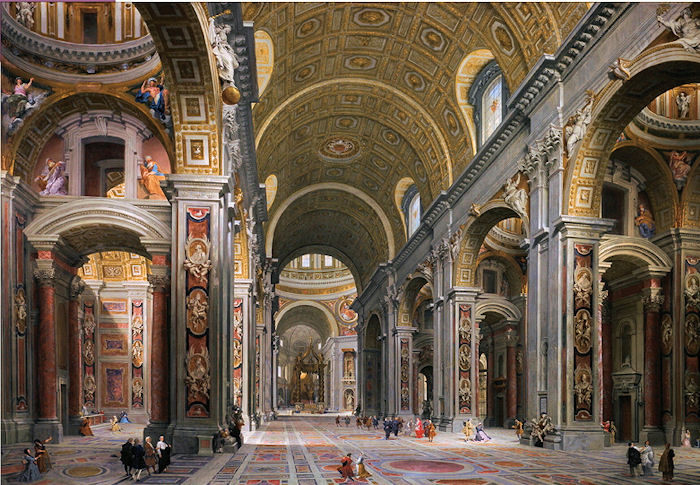 Interior of St.Peter's Rome Churches Jigsaw Puzzle