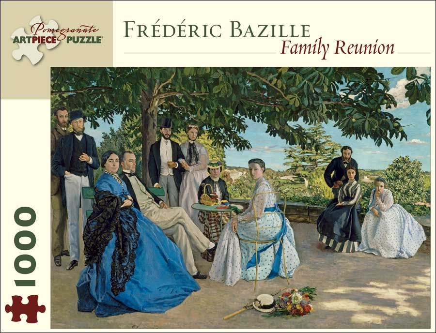 Bazille Family Reunion Impressionism Jigsaw Puzzle