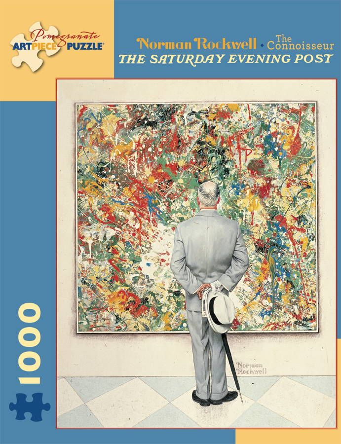 Norman Rockwell - The Connoisseur (The Saturday Evening Post) Contemporary & Modern Art Jigsaw Puzzle