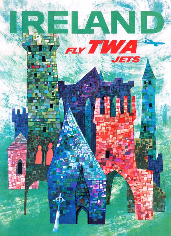 Explore Ireland (TWA Travel Posters) - Scratch and Dent Travel Jigsaw Puzzle