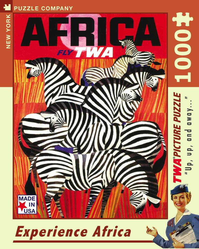 Experience africa twa travel posters travel jigsaw puzzle