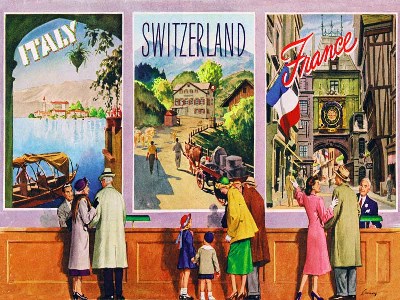 European Vacation (TWA Travel Posters) Travel Jigsaw Puzzle