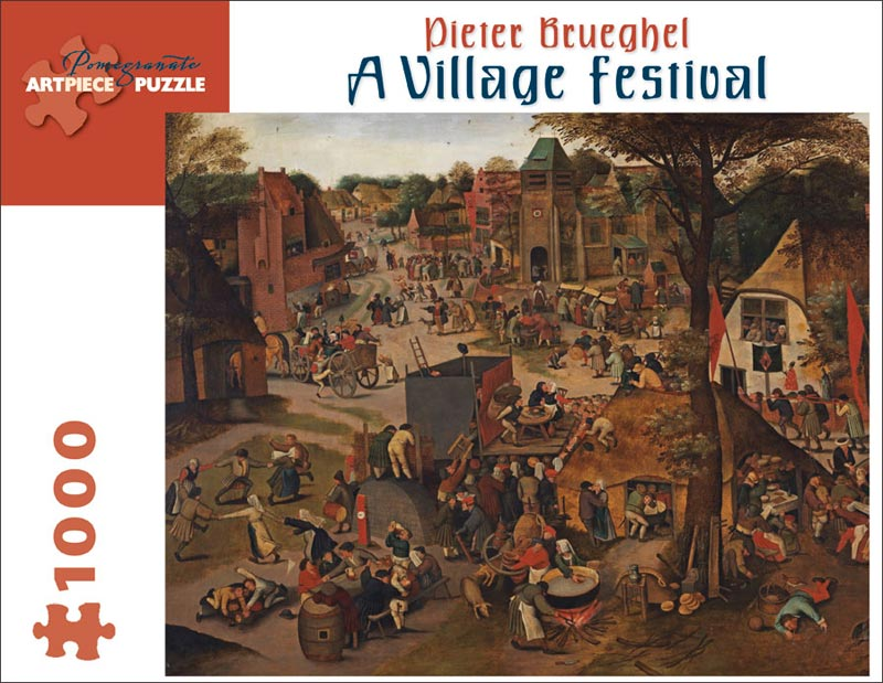 A Village Festival - Scratch and Dent Fine Art Jigsaw Puzzle