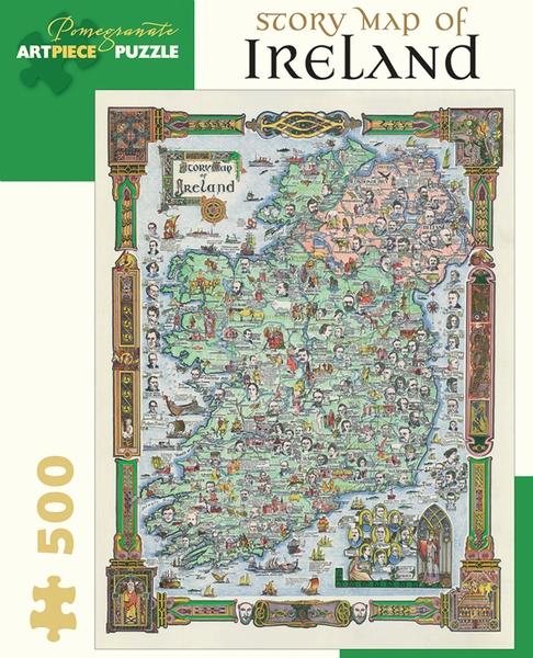 Story Map Of Ireland Landmarks / Monuments Jigsaw Puzzle