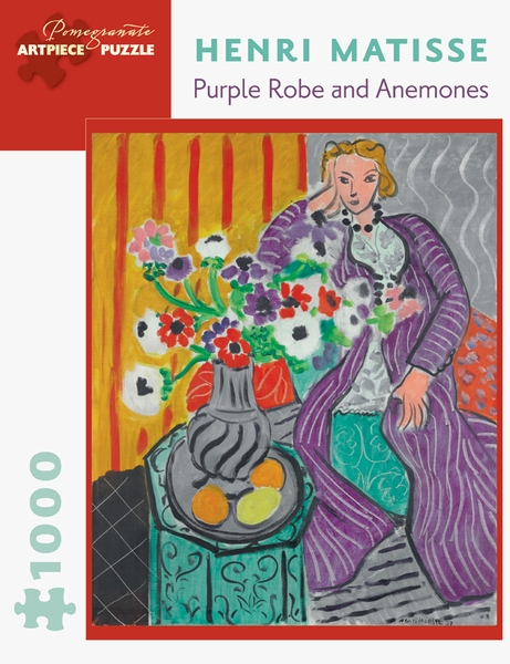 Purple Robe And Anemones Flowers Jigsaw Puzzle