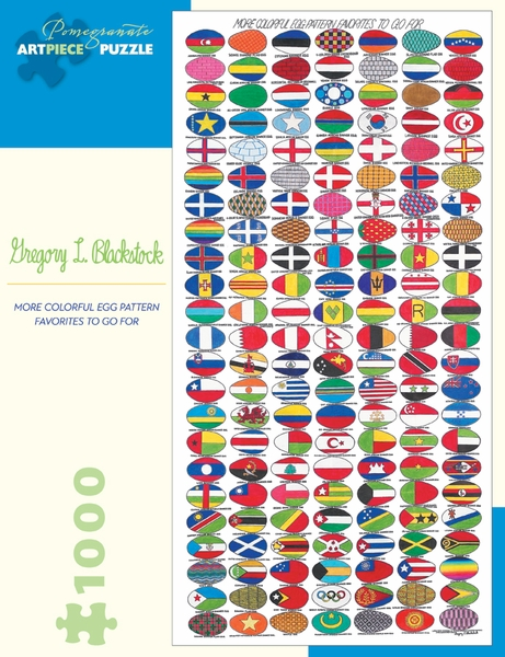 More Colorful Egg Pattern Favorites To Go For Maps / Geography Jigsaw Puzzle