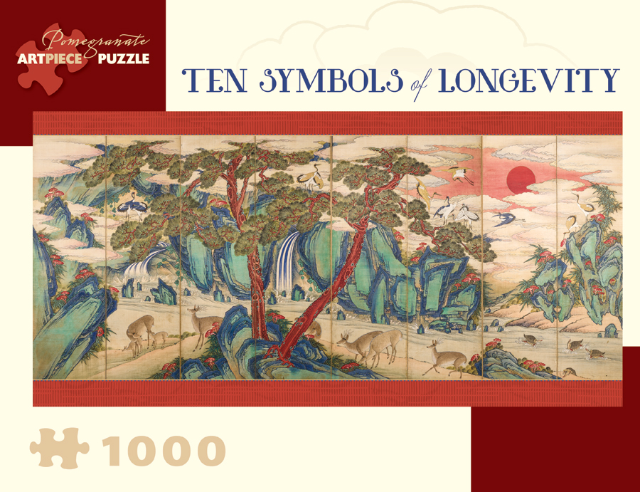 Ten Symbols of Longevity Birds Jigsaw Puzzle