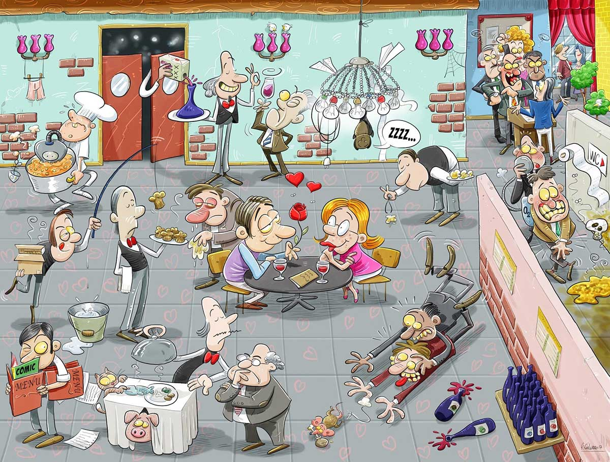 Valentines Day Chaos Cartoons Jigsaw Puzzle