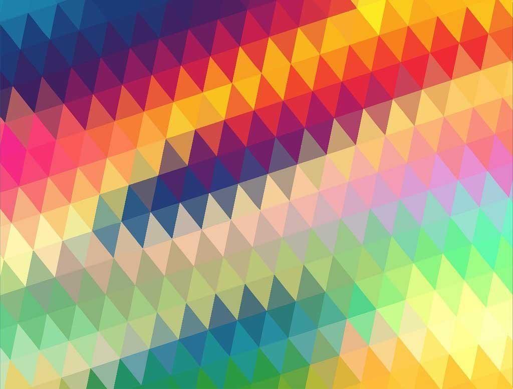 Geometric Rainbow Abstract Jigsaw Puzzle