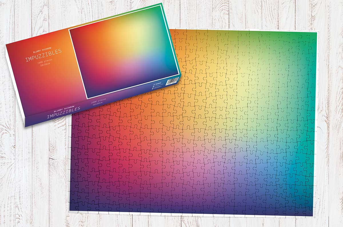 Blurry Rainbow Abstract Jigsaw Puzzle