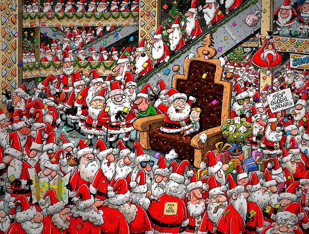 Chaos at Santa's Grotto Santa Jigsaw Puzzle