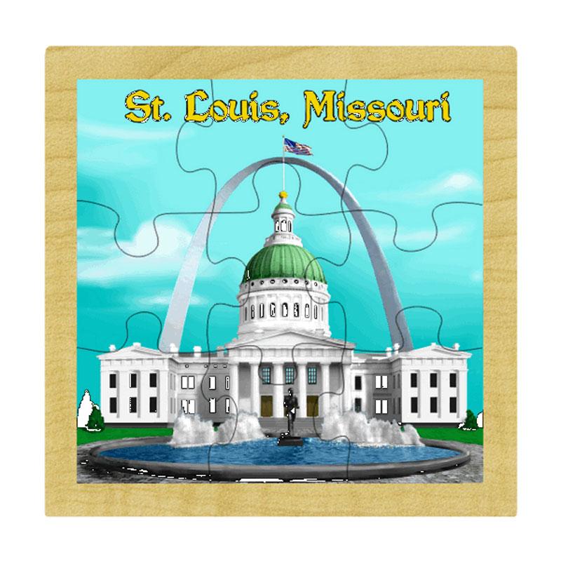 St Louis Arch Landmarks Wooden