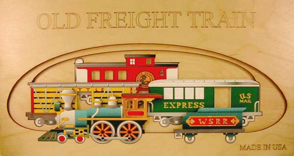 Old Freight Train Trains Wooden