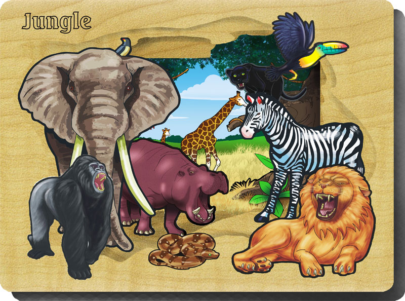 Jungle Jungle Animals Wooden